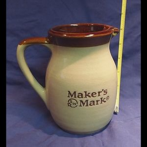Maker's Mark Whiskey Ceramic Pitcher